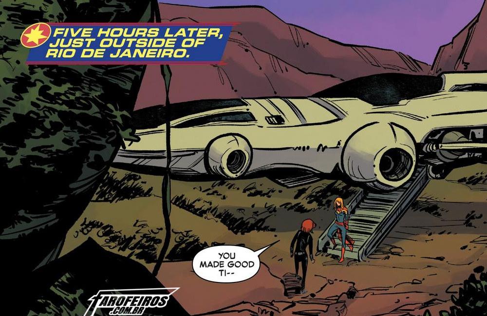 Outra Semana nos Quadrinhos #19 - Captain Marvel #6 - Capitã Marvel - Viúva Negra - Rio de Janeiro - Blog Farofeiros