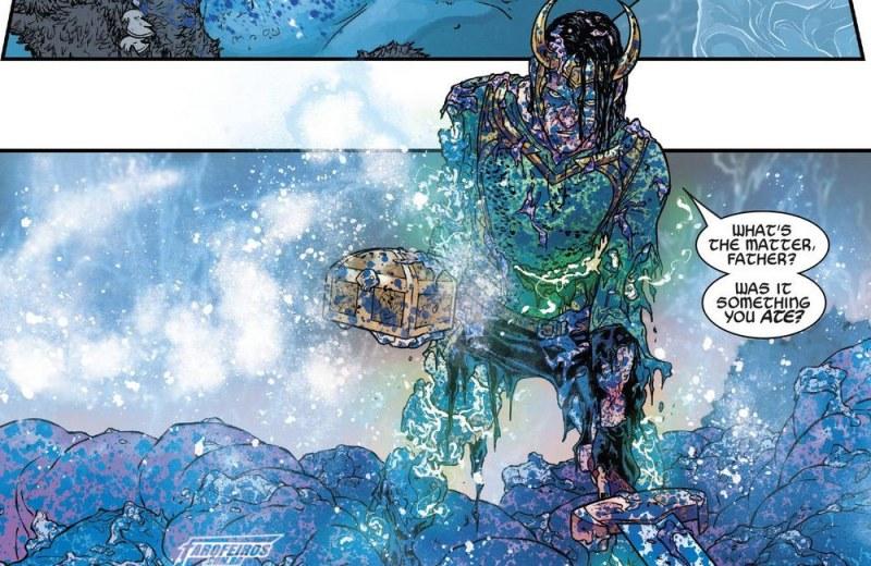 O final de Guerra dos Reinos - Loki saindo de Laufey - Blog Farofeiros