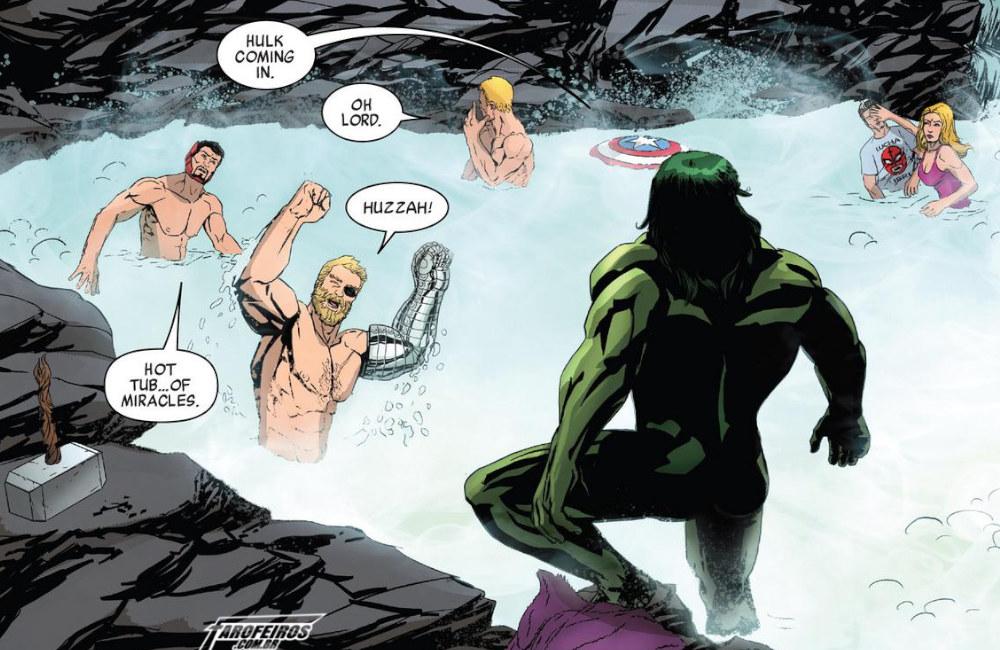 Outra Semana nos Quadrinhos #21 - Avergers #21 - Vingadores - Banho - Blog Farofeiros