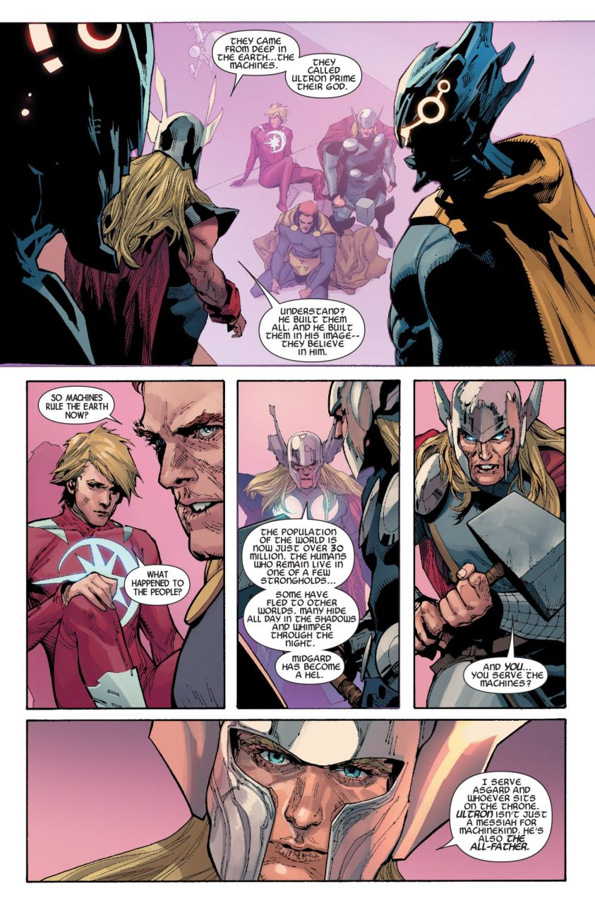Detalhes de Powers of X - Poderes dos X - Avengers Vol 5 #31 - Thor do futuro fala sobre Ultron o Pai de Todos - Blog Farofeiros