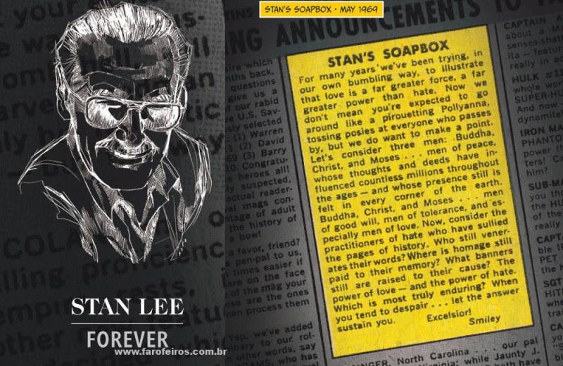Beijo gay nas histórias em quadrinhos - Stan Lee - Soap Box - Blog Farofeiros