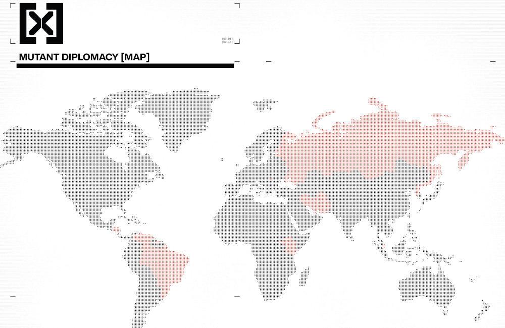 Mapa da diplomacia mutante - X-Men - Deu tudo certo em House of X #5 - Marvel Comics - Blog Farofeiros