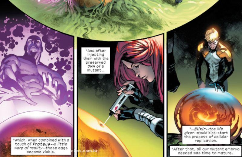 Os CINCO - Proteus - Hope - Elixir - X-Men - Deu tudo certo em House of X #5 - Marvel Comics - Blog Farofeiros