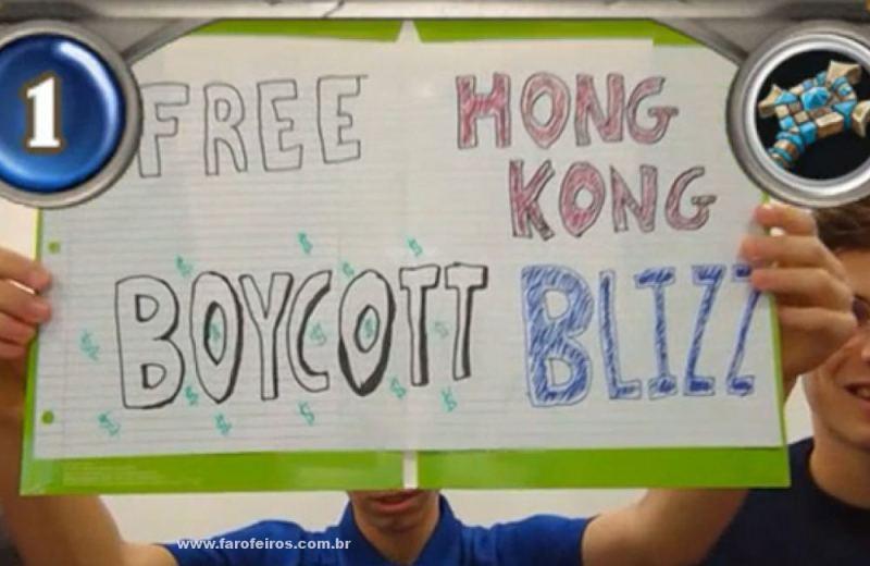 Free Hong Kong - Boicote - Como arruinar a boa reputação da Blizzard em 10 lições -Blog Farofeiros