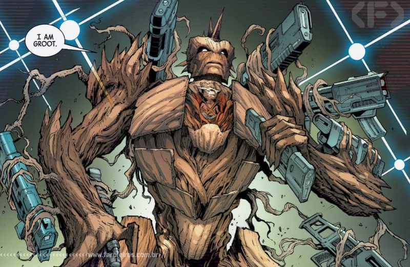 Outra Semana nos Quadrinhos #22 - Guardians of the Galaxy #12 - Rocket com armadura Groot - Blog Farofeiros