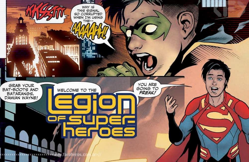 Outra Semana nos Quadrinhos #22 - Legion of Super Heroes #2 -Superboy recruta Robin - Blog Farofeiros