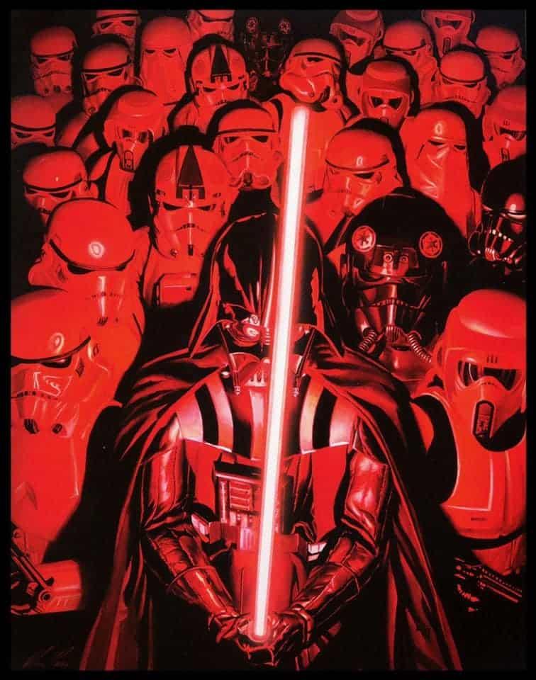 A arte de Alex Ross - Darth Vader - Blog Farofeiros