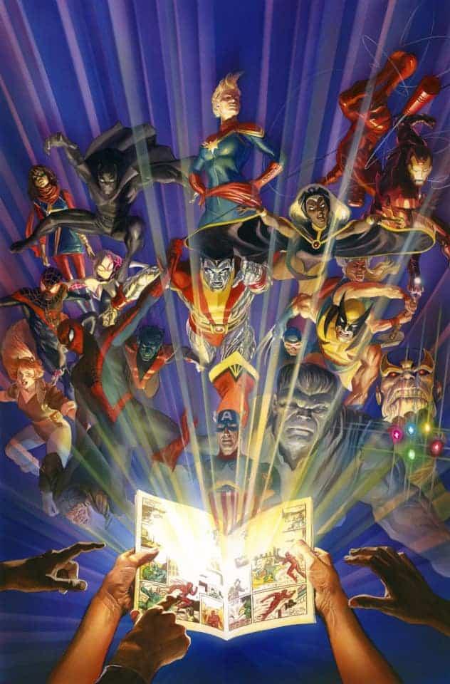 A arte de Alex Ross - Marvel #1000 - Blog Farofeiros