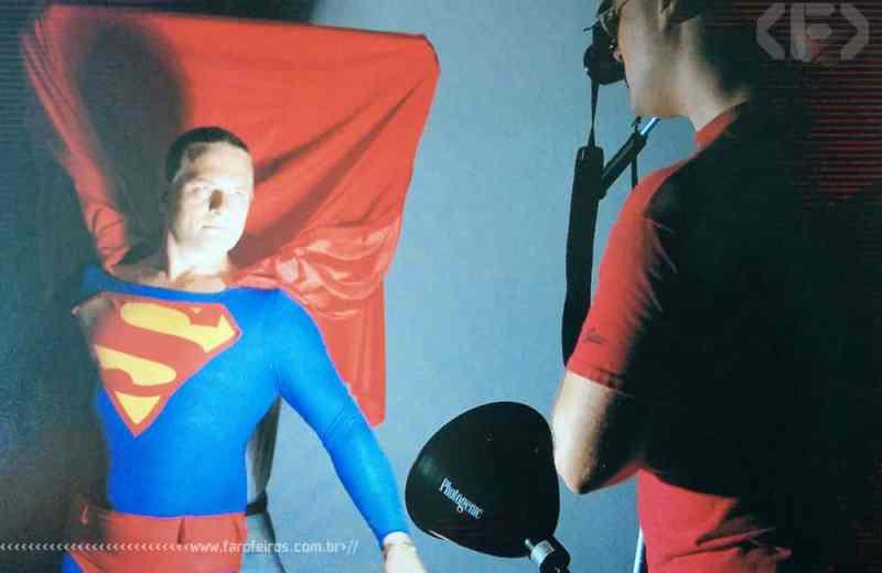 A arte de Alex Ross - Superman - Referência fotográfica - Blog Farofeiros