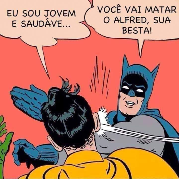 Memes para usar durante a quarentena - Blog Farofeiros - Robin babaca