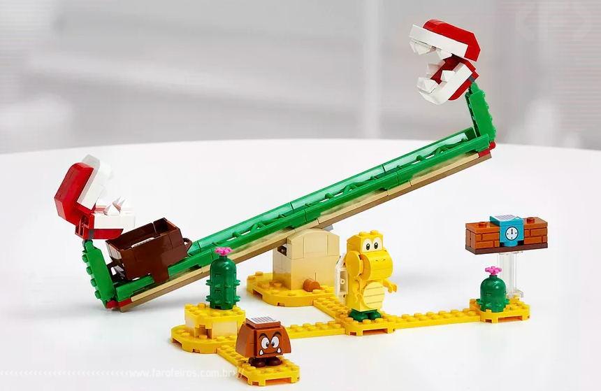 LEGO Super Mario - The Piranha Plant Power Slide Expansion Set - Blog Farofeiros
