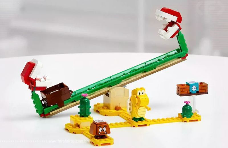 LEGO Super Mario - The Piranha Plant Power Slide Expansion Set - Blog Farofeiros