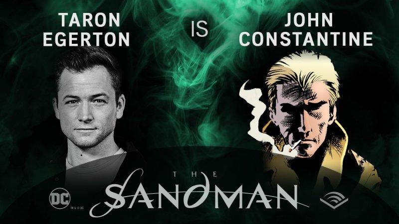 Taron Egerton - John Constantine - Sandman em audiobook - Blog Farofeiros