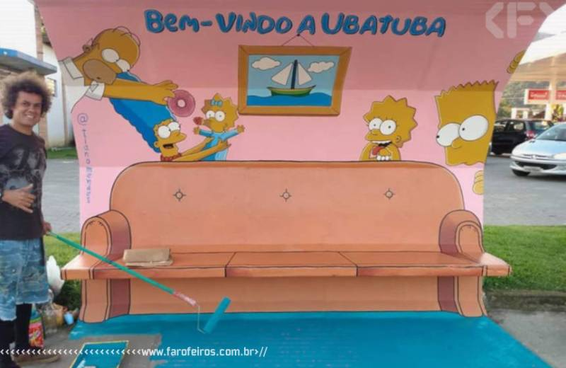 Ponto de ônibus de Os Simpsons - Tiano Mendes - Blog Farofeiros