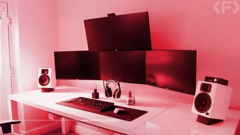 Tá caro ser gamer - PC setup vermelho - Blog Farofeiros