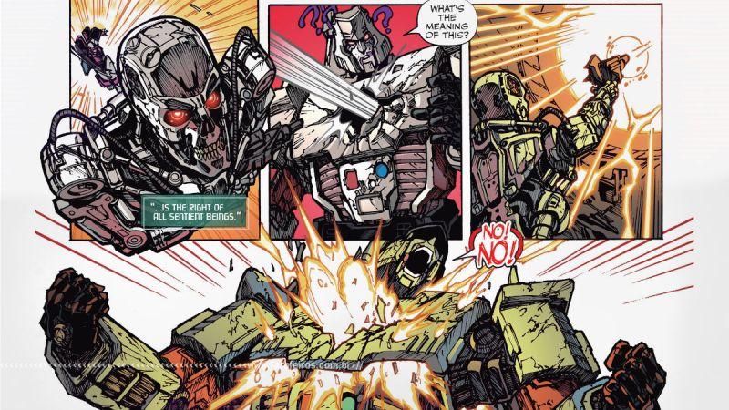 Exterminador - Megatron - Transformers Vs Terminator #4 - Outra Semana nos Quadrinhos #27 - Blog Farofeiros