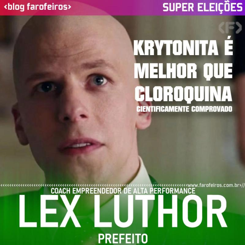 Lex Luthor - Os Simpsons - Blog Farofeiros - Super Eleições