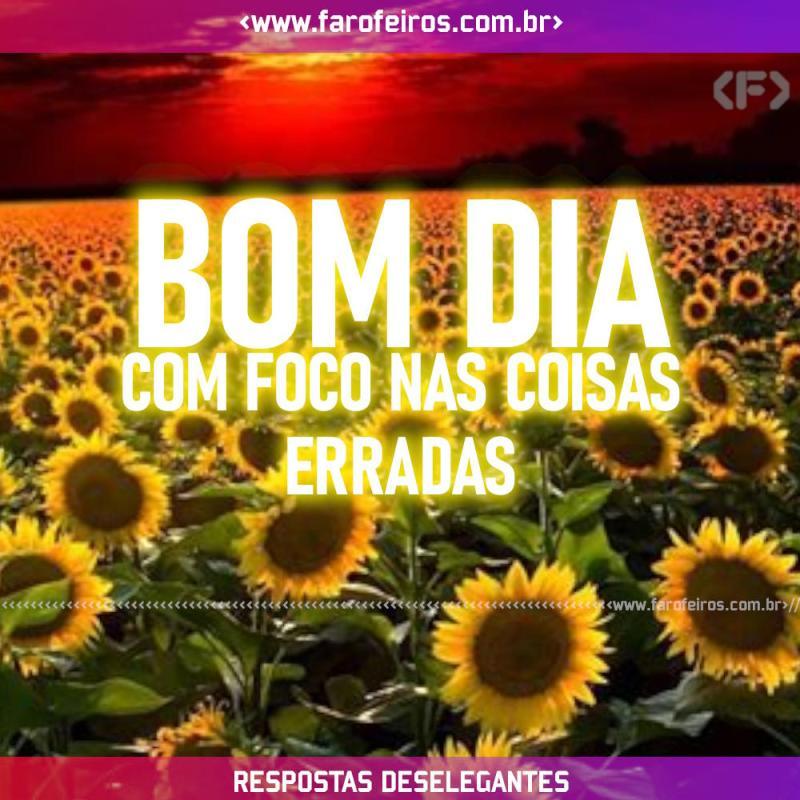 Respostas Deselegantes - Bom Dia Foco - Blog Farofeiros