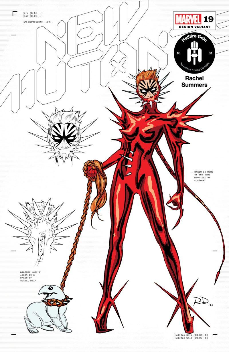 Rachel Summers - 1 - Russell Dauterman - Hellfire Gala - A noite de Gala do Clube do Inferno em X-Men - Blog Farofeiros
