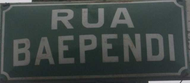 "Rua Baependi – O município de Blumenau rende homenagem ao navio Baependi, cuja toponímia deriva de mbaé-pindi que significa ""a clareira aberta"" em tupi-guarani."