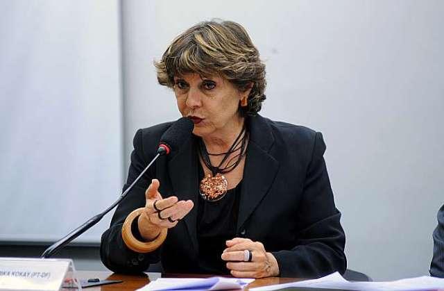 Deútada Erika Kokay Presidente da CPI (Lúcio Bernardo Jr/Câmara dos Deputados)