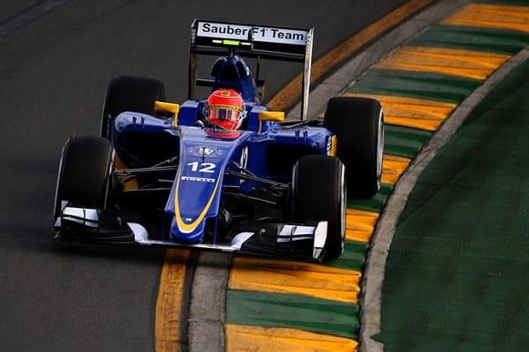 Felipe Nasr fez uma grande estreia. Pilotou sem errar e de forma medida, garantindo um bom quinto lugar (Getty Images)
