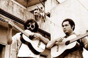 A dupla no filme-biografia de 1979, o primeiro dos dois da dupla (Junior da Viola)