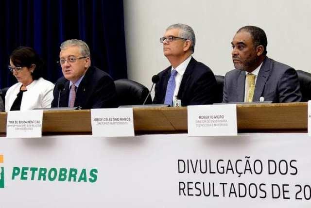 A diretoria da Petrobras apresenta o balanço auditado do ano passado. O resultado líquido de 2014 ficou negativo em R$ 21,6 bilhões (Divulgação Agência Petrobras)