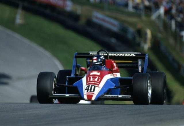 O suéco Stefan Johansson acelera o Spirit-Honda em Brands Hatch, 1983. Tempos de paciencia para os japoneses na volta a F1, nos anos 80. (Taringa)