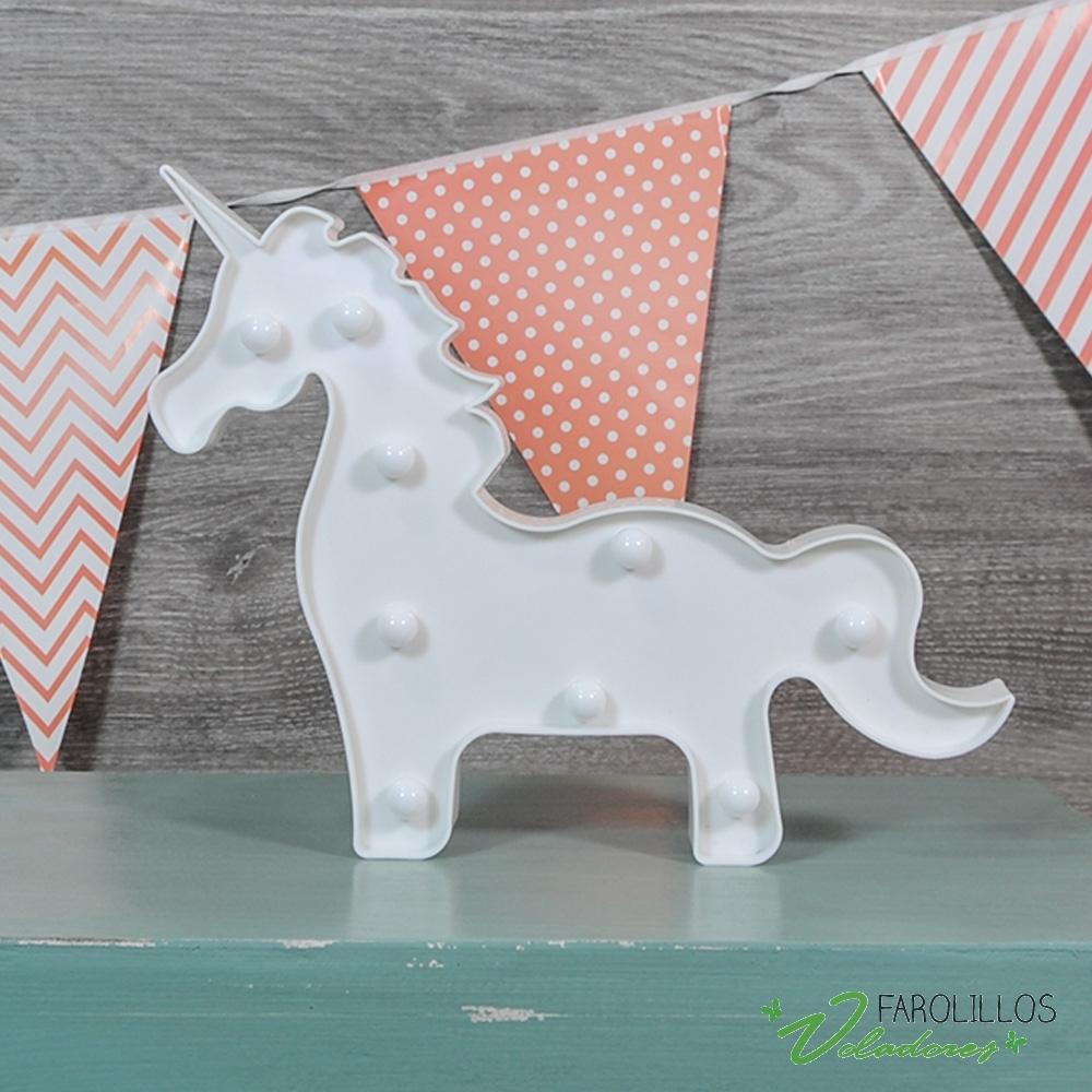 lmpara unicornio con luz led