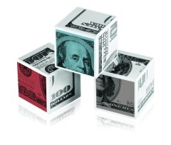 cubes of dollars