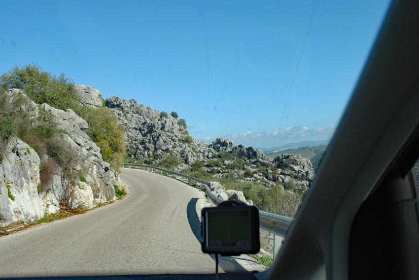 Estrada alternativa entre Vejer de la Frontera e Ronda