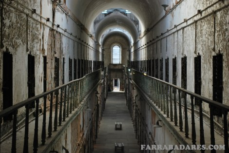 Eastern State Penitentiary - o corredor 7 tinha dois andares