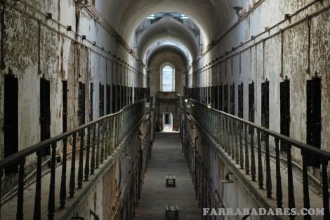Eastern State Penitentiary - o corredor 7 tinha dois andares