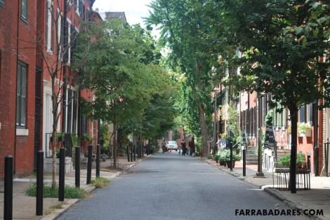 Rittenhouse area - uma das ruas residenciais do bairro