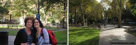 Rittenhouse Square - minha mãe e eu