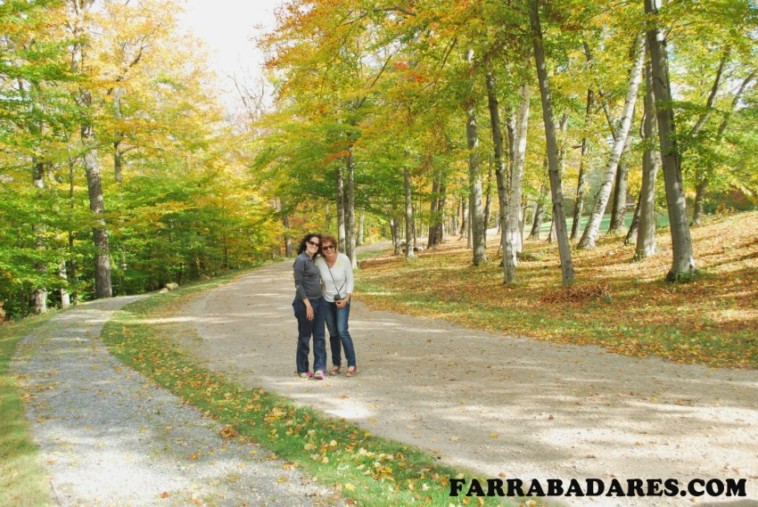 Eu e minha mãe em Hildene - Vermont