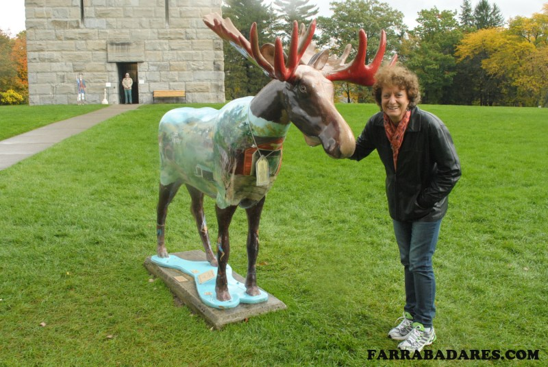 Vermont - Mamãe, o moose e o Monumento da Batalha de Bennington