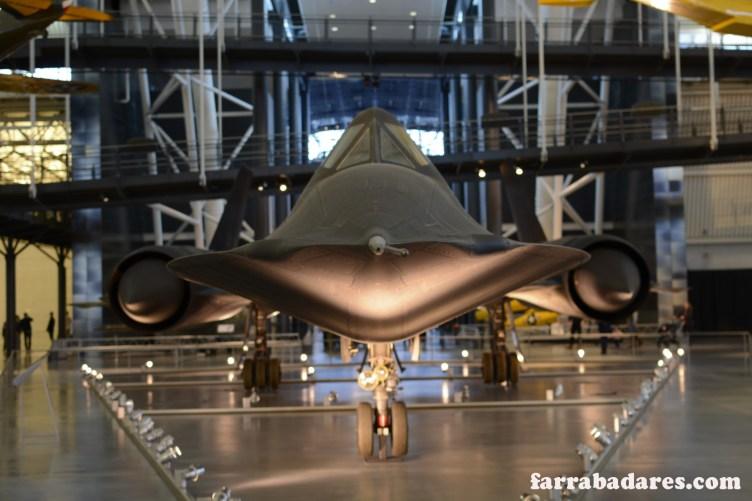 Blackbird, avião a jato - Air and Space Museum em Chantilly
