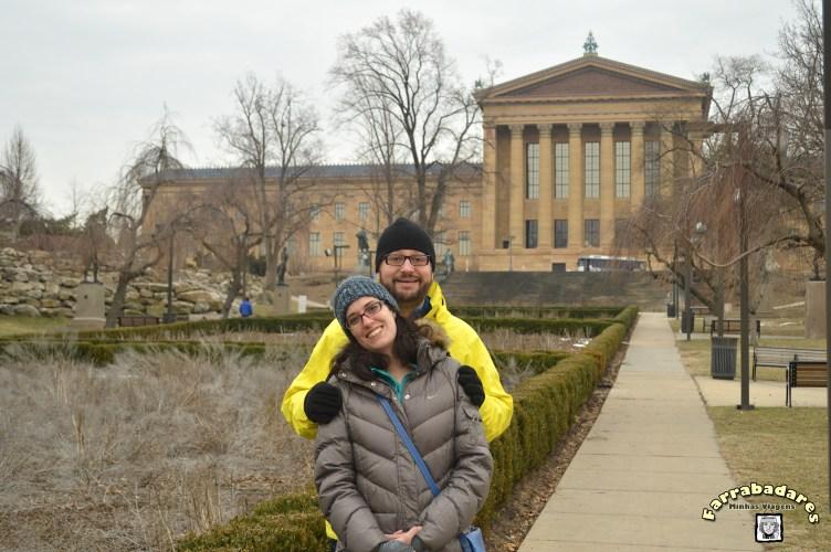 Philadelphia - Museu de Arte - parque nos fundos do museu