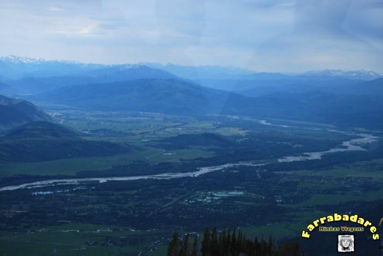 No topo da Montanha Rendezvous - Snake River