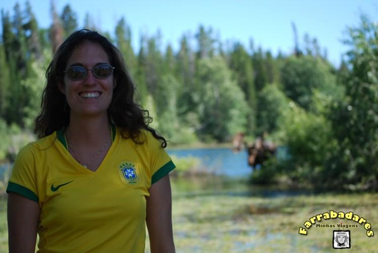 Grand Teton National Park - eu e o moose ao fundo