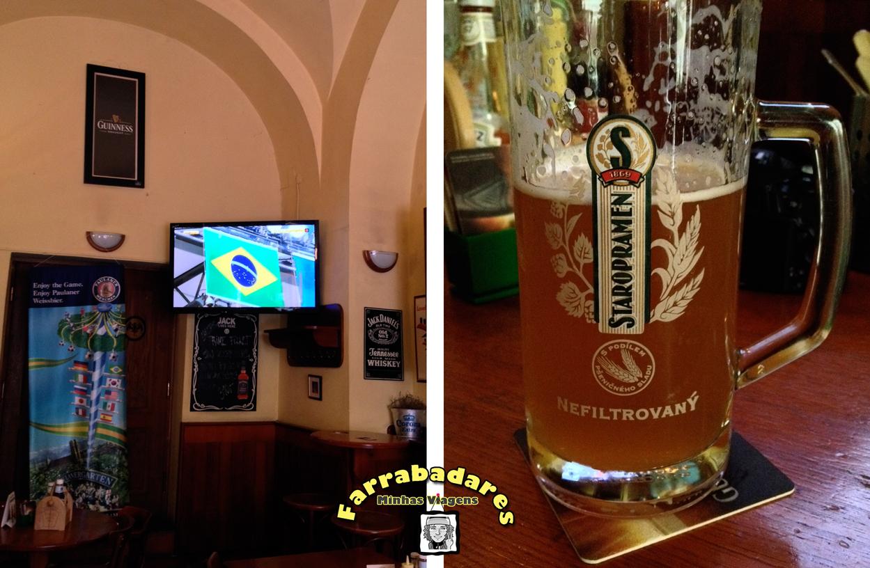 Praga - J.J. Murphy's Irish Pub, bar que assistimos o jogo entre Brasil X Chile na Copa do Mundo 2014