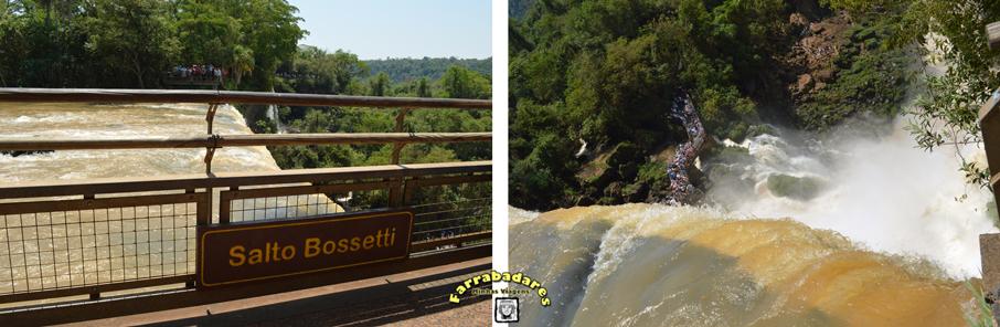 Parque Nacional Iguazú - circuito superior, Salto Bosseti