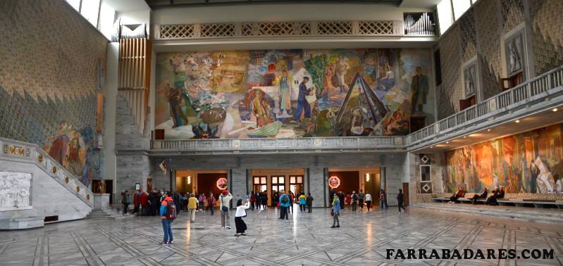 Oslo - Prefeitura; salão onde acontece a entrega do Prêmio Nobel da Paz