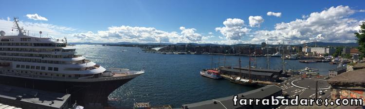 Oslo vista a partir de Akershus