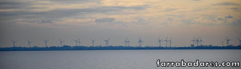 Moinhos de energia eólica já na Alemanha