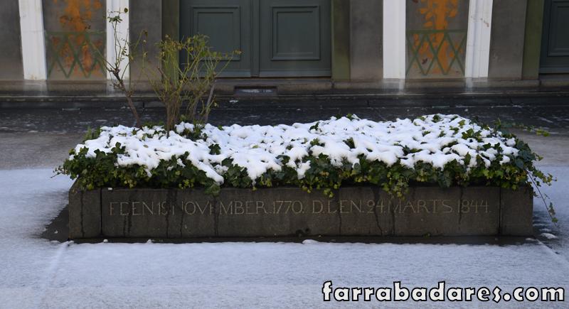 Museus em Copenhague: sepultura de Bertel Thorvaldsen dentro do museu