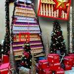 Christmas Tree Made of Toblerone Chocolate in Dubai, UAE
