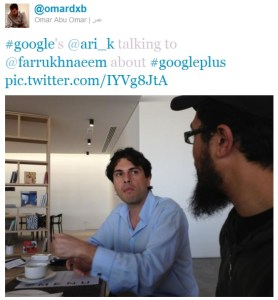 Farrukh Naeem with Ari Kesisoglu of Google Middle East North Africa